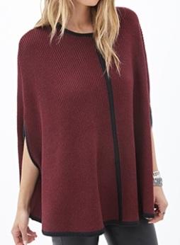 Ribbed Knit Cape, $29.80, forever21.com