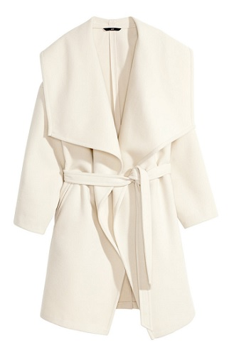 Belted Coat, $59.95, hm.com