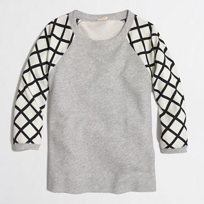 Factory Contrast Sleeve Sweatshirt, $34, jcrewfactory.com