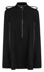 Leather Detail Wool Cape, $89.99, mango.com