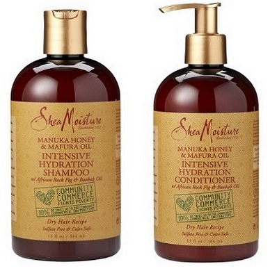 SheaMoisture Manuka Honey and Mafura Oil Intensive Hydration Shampoo and Conditioner