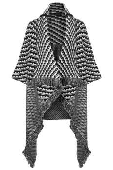 Pattern Blanket Coat, $140, topshop.com