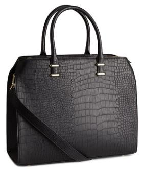 Faux Croc Handbag, $39.95, hm.com