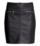 Imitation Leather Skirt, $24.95, hm.com