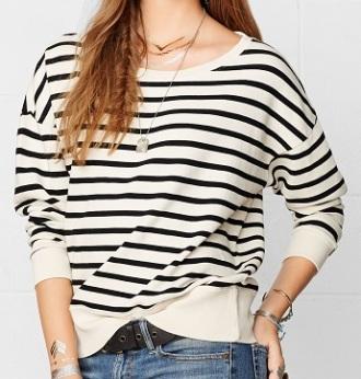 Striped Cotton Sweatshirt, $29.99, ralphlauren.com