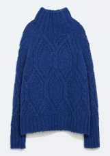 Turtleneck Cable Knit Sweater, $79.99, zara.com