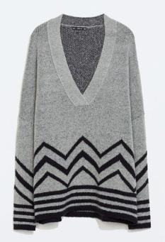 Zig Zag Intarsia Sweater, $59.99, zara.com