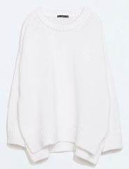 Round Neck Knit Sweater, $79.90, zara.com