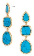 Howlite Goodall Drop Earrings, $32, baublebar.com