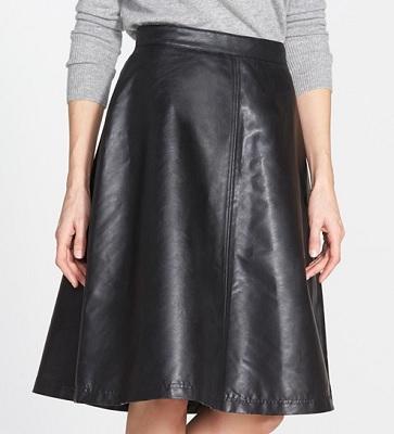 Halogen Faux Leather A-Line Skirt, $52.80, nordstrom.com