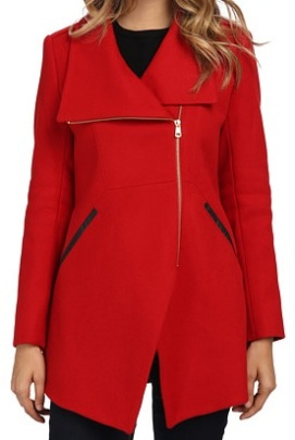 French Connection Royal Scarlet Coat, $157.50, 6pm.com