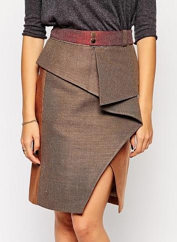 Three Floor Twist Skirt, $75.81, asos.com