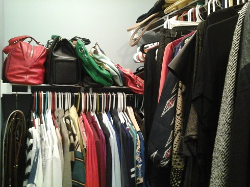 My half of the closet: Out with the old, in with the new!