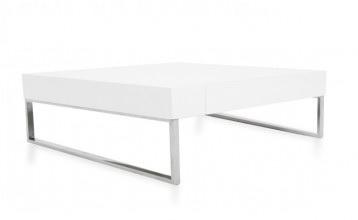 Gavino Coffee Table in White Lacquer, $290, modani.com