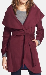 T Tahari Wool Blend Belted Wrap Coat, $189.90, nordstrom.com
