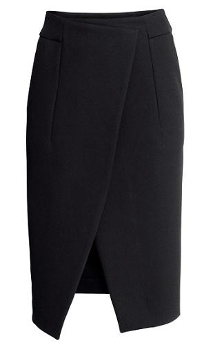 Wrapover Crepe Skirt, $49.95, hm.com