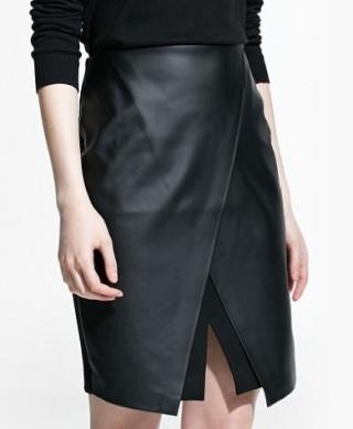 Slit Wrap Skirt, $79.99, mango.com