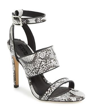Topshop 'Rita' Croc Embossed Sandal, $75, nordstrom.com