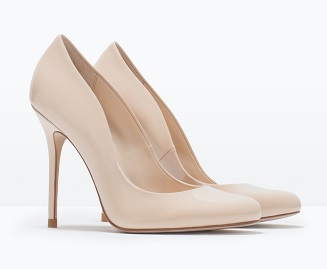 Faux Patent Leather High Heel Court Shoe, $79.90, zara.com