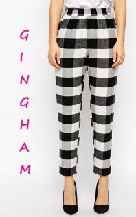ASOS Fluffy Peg Pants in Gingham Check, $63, asos.com