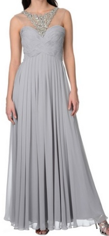 Decode 1.8 Women's Long Grey Embellished Gown, $144.99, overstock.com