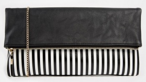 New Look Funky Stripe Foldover Clutch, $18, asos.com