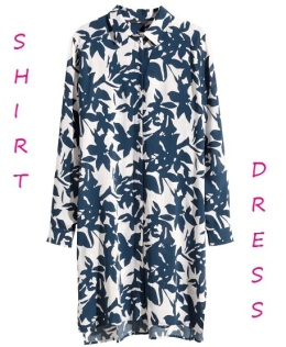 Patterned Shirt Dress, $29.95, hm.com