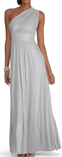 Genius Metallic Convertible Silver Bridesmaid Gown, $160, whitehouseblackmarket.com