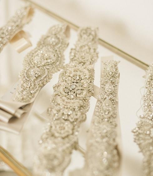 Bridal sashes (Photo: Garnish Boutique)