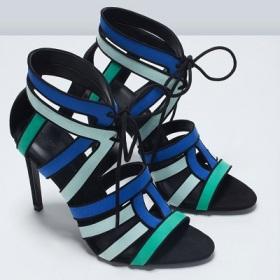 Combination High Heel Sandal, $79.90, zara.com