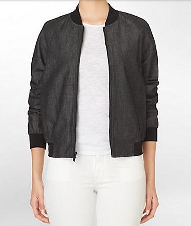 Black Tencel Bomber Jacket, $99, calvinklein.com