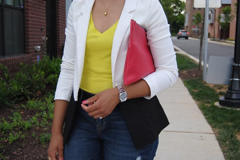 What I'm Wearing: Color-block Blazer