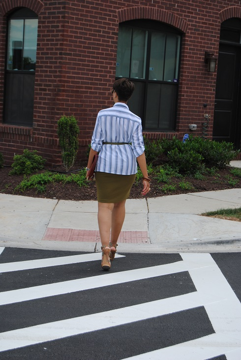 What I'm Wearing: Striped Button Down