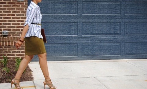 What I'm Wearing: Ponte Knit Skirt