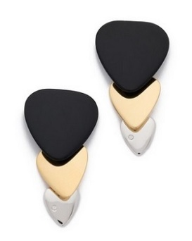 Marc by Marc Jacobs 'Beat It' Colored Plectrum Trio Earrings, $78, shopbop.com