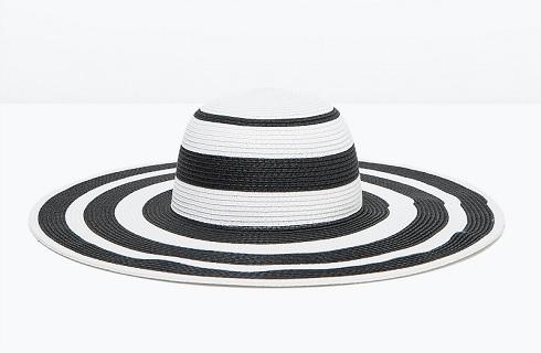 Two-tone Wide Brim Hat, $29.90, zara.com