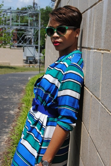 What I'm Wearing: Striped Shirtdress