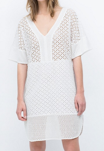 Embroidered Dress, $49.99, zara.com