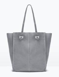 Suede Shopper Bag, $69.90, zara.com