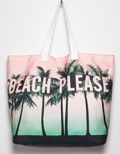 Beach Please Canvas Tote, $14.90, forever21.com