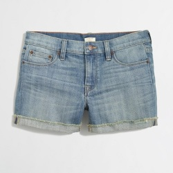Cut-Off Denim Shorts, $29.50, factory.jcrew.com