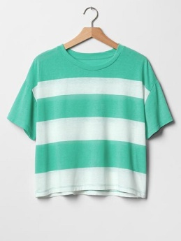 Stripe Crop Tee, $16.99, gap.com