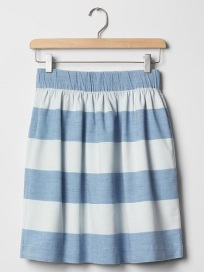 1969 Stripe Chambray Skirt, $19.99, gap.com