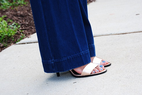 What I'm Wearing: Denim Trouser Pants