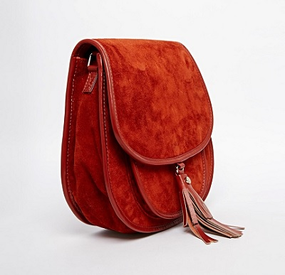 ASOS Suede 70s Saddle Shoulder Bag, $60.50, asos.com
