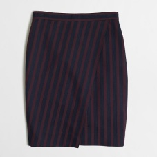 Factory Stripe Wrap Pencil Skirt, $52.50, jcrewfactory.com