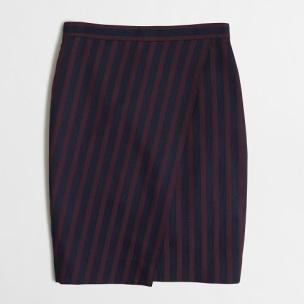 Factory Stripe Wrap Pencil Skirt, $52.50, jcrewfactory.com