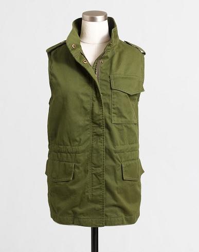 Sherpa-Lined Utility Vest, $68.50, jcrewfactory.com