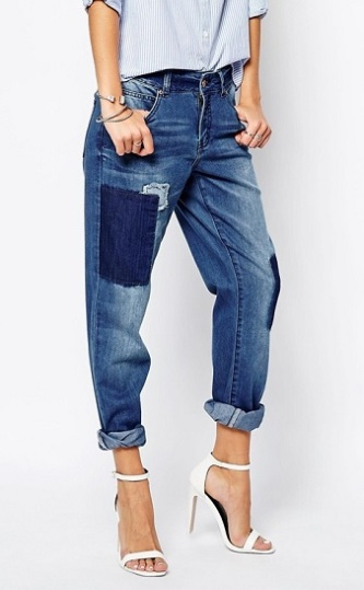 Noisy May Tall Patchwork Straight Fit Jeans, $22, asos.com