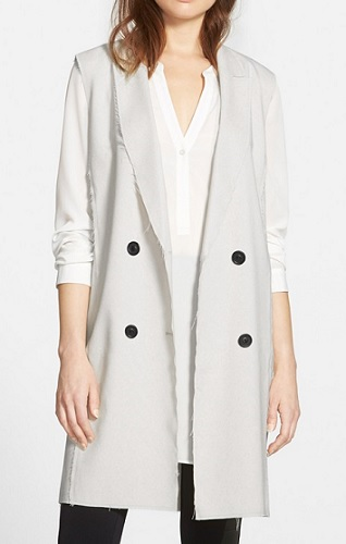Trouve' Raw Edge Long Vest, $78, nordstrom.com